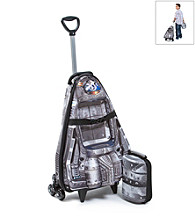 MaxToy Silver Spaceship 3D Roller BackPack Set