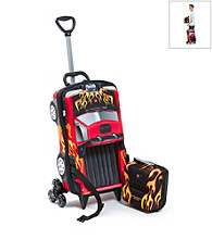 MaxToy Red Pick-Up Truck 3D Roller BackPack Set