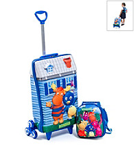 MaxToy Blue Backyardigans℠ 3D Roller BackPack Set