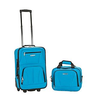 Rockland® 2-pc. Turquoise Luggage Set