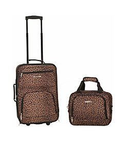 Rockland® 2-pc. Leopard Print Luggage Set