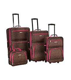Rockland® 4-pc. Leopard Luggage Set