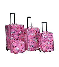 Rockland® 4-pc. Printed Vegas Luggage Set
