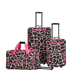 Rockland® 3-pc. Pink Giraffe Luggage Set