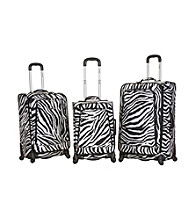 Rockland Polo Equipment ® 3-pc. Zebra Fusion Luggage Set