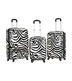 Rockland® 3-pc. Safari Polycarbonte Upright Luggage Set