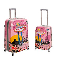 Rockland® 2-pc. Vegas Polycarbonate Upright Luggage Set