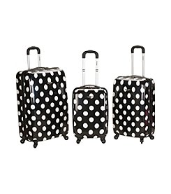 Rockland® 3-pc. Laguna Beach Polycarbonate Upright Luggage Set