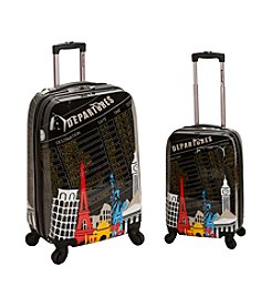 Rockland® 2-pc. Departure Polycarbonate Upright Luggage Set