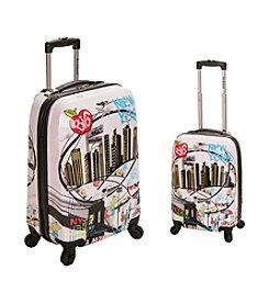 Rockland® 2-pc. New York Polycarbonate Upright Luggage Set
