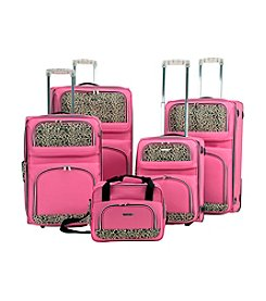 Rockland® 5-pc. Pink Leopard Luggage Set