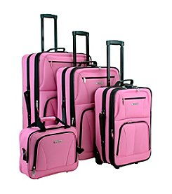 Rockland® 4-pc. Pink Luggage Set