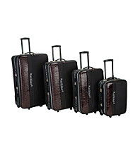 Rockland Polo Equipment® 4-pc. Brown and Black Luggage Set