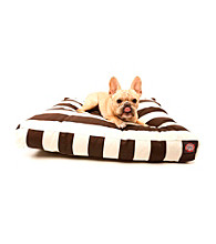 Majestic Home Goods Vertical Strip Small Rectangle Pet Bed