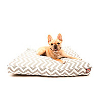 Majestic Home Goods Zig Zag Small Rectangle Pet Bed