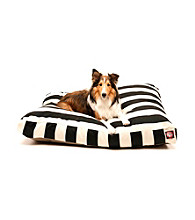 Majestic Home Goods Vertical Strip Medium Rectangle Pet Bed