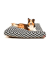 Majestic Home Goods Zig Zag Medium Rectangle Pet Bed