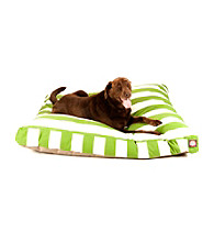 Majestic Home Goods Vertical Strip Large Rectangle Pet Bed