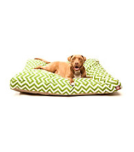Majestic Home Goods Zig Zag Large Rectangle Pet Bed