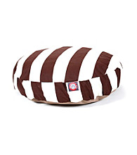 Majestic Home Goods Vertical Strip Small Round Pet Bed