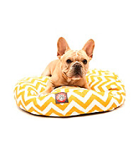 Majestic Home Goods Zig Zag Small Round Pet Bed