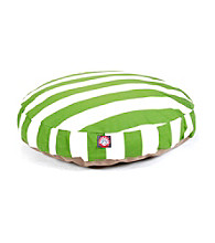 Majestic Home Goods Vertical Strip Medium Round Pet Bed