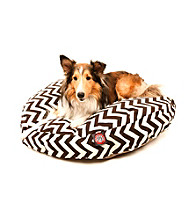 Majestic Home Goods Zig Zag Medium Round Pet Bed