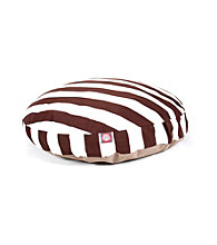 Majestic Home Goods Vertical Strip Large Round Pet Bed