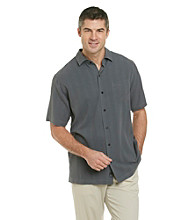 Paradise Collection® Men's Short Sleeve Solid Silk Woven