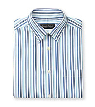Kenneth Roberts Platinum® Men's Blue Sail Aqua Ribbon Stripe Dress Shirt
