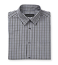 Kenneth Roberts Platinum® Men's Midnight Black Gingham Plaid Dress Shirt