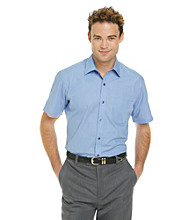 Kenneth Roberts Platinum® Men's Blue Micro Stripe Short Sleeve Woven