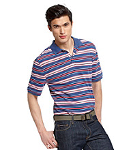 John Bartlett Consensus Men's Multi-Stripe Pique Polo