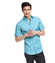 John Bartlett Consensus Short Sleeve Roll Tab Woven Shirt