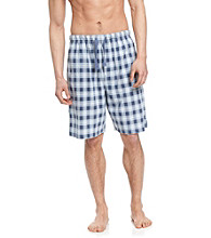 John Bartlett Statements Men's Navy Plaid Pajama Short