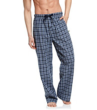 John Bartlett Statements Men's Navy Plaid Woven Pant