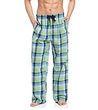 John Bartlett Statements Men's Olive Plaid Woven Pajama Pant