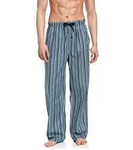 John Bartlett Statements Men's Blue & Green Stripe Woven Pajama Pant