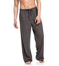 John Bartlett Statements Men's Black Dot Printed Knit Lounge Pant