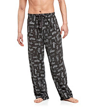 John Bartlett Statements Men's Black Motorcycle Printed Knit Lounge Pant