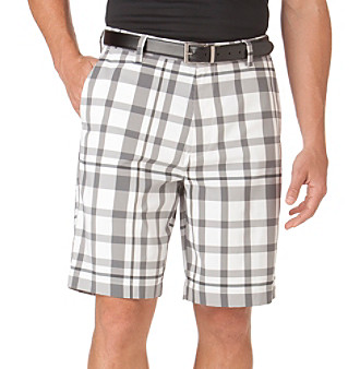 Chaps® Men's White McKinnon Plaid Golf Short
