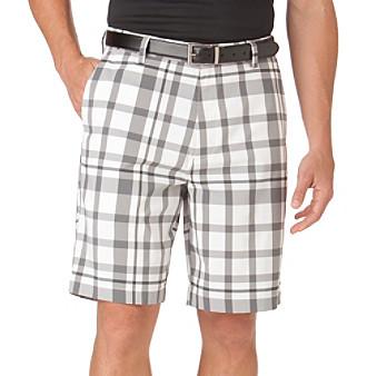 Chaps® Men's White McKinnon Plaid Golf Short