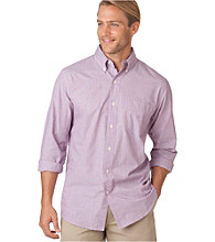 Chaps® Men's Long Sleeve End-on-End Solid Woven