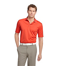 Izod® Men's Short Sleeve Poly Grid Texture Polo