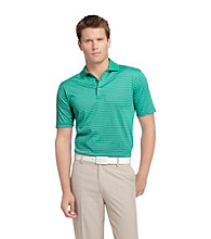 Izod® Men's Emerald Short Sleeve Fine Stripe Polo