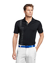 Izod® Men's Black Short Sleeve Printed Polo