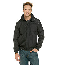 Calvin Klein Men's Black Bonded Motorcycle Jacket