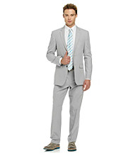 Kenneth Cole REACTION® Men's Grey Stripe Cotton/Linen Blend Suit Separates