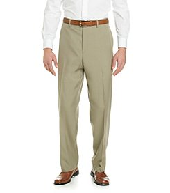Savane® Men's Straight Fit Flat Front Crosshatch Pant