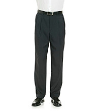 Savane® Men's Straight Fit Pleated Crosshatch Pant